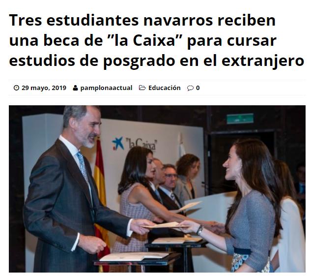 Almudena Azcárate Fomento Alumni en prensa