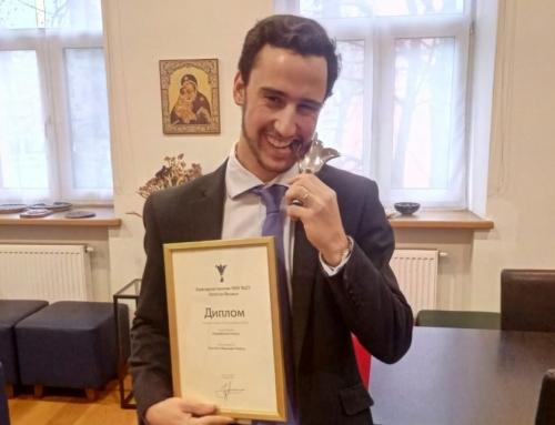 Juan Sota, El Prado Alumni, premiado por la Universidad de Moscú