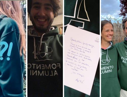 Sudaderas alumni para los ganadores del concurso «Actualiza tus datos»